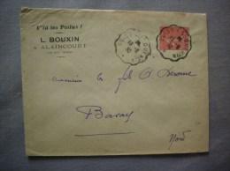ALAINCOURT PAR MOY AISNE L. BOUXIN V´LA LES POILUS! ENVELOPPE CACHET GUISE A ST QUENTIN DU 13-6-30 - France