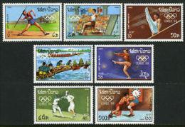 Laos 1988 Olympics Games Seoul Korea Javelin Long jump Canoeing Sports Stamps MNH SG 1053-9 Laos 883-9 Michel 1067-1073