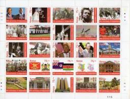Kenya Independence 50th Anniversary Issue- Political Development  Full  Sheet-  MNH (Rare)