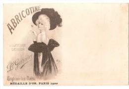 CPA 95 ENGHIEN LES BAINS CARTE PUBLICITAIRE ABRICOTINE GARNIER MEDAILLE D OR PARIS 1900 RARE BELLE SERIE !! - Enghien Les Bains