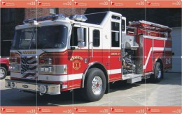 A04389 China Phone Cards Fire Engine Puzzle 104pcs - Firemen