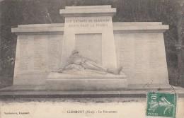 Thematiques 60 Oise Clermont Monument Aux Enfants De Clermont Morts Pour La France Ecrite Timbrée - Clermont