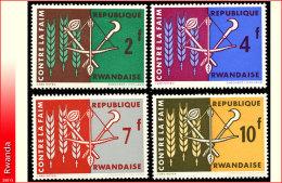 Rwanda 0033/36**  Contre la faim  MNH