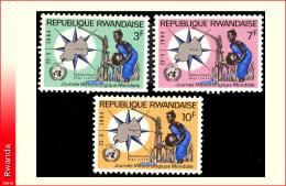 Rwanda 0067/69** Meteorologie  MNH
