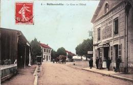 BETHENIVILLE  FAMILLE DUVINEZ ? EMMA 1907 HOTEL DE LA GARE