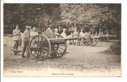 10 - Camp De Mailly - Batterie De 75 En Action - Matériel
