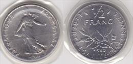 1/2 FRANC - 50 CENTIMES SEMEUSE 1980 FDC SOUS SCELLE (voir Scan) - G. 50 Centimes