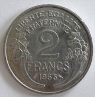 2 FRANCS   MORLON, ALUMINIUM  1958  -  SUP (SUPERBE)     (743)