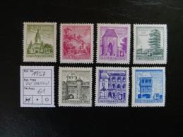 """1957  """"  Bauten,  Mit Und Ohne Aufheller """"    Hohe Werte  Postfrisch   LOT 61 - 1945-.... 2. Republik"""