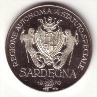 REGIONALI 1970: SARDEGNA - Prime Elezioni - Argento 925 FDC, Fondo Specchio - Italia
