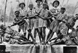 Cpsm 1953, Groupe De Scouts Joyeux De BAMAKO, Belle Mise En Scène (44.57) - Scoutisme