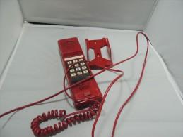 TELEFONO FISSO  ROSSO DA MURO  DA COLLEZIONE - Telefonia
