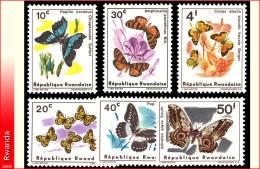 Rwanda 0112/117**  Papillons I MNH
