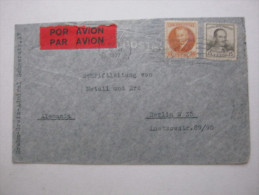 Kanalzone , Brief  1937 - Briefmarken