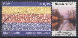 Nederland - Provincievlaggen En Volksliederen - Noord-Holland - Gebruikt-gebraucht-used - NVPH 2067 Tab Naardermeer - Periode 1980-... (Beatrix)