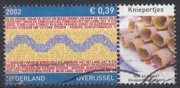 Nederland - Provincievlaggen En Volksliederen - Overijssel - Gebruikt-gebraucht-used - NVPH 2074 Tab Kniepertjes - Periode 1980-... (Beatrix)