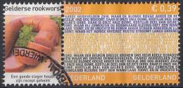 Nederland - Provincievlaggen En Volksliederen - Gelderland - Gebruikt-gebraucht-used - NVPH 2068 Tab Gelderse Rookworst - Periode 1980-... (Beatrix)
