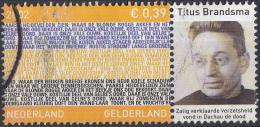 Nederland - Provincievlaggen En Volksliederen - Gelderland - Gebruikt-gebraucht-used - NVPH 2068 Tab Titus Brandsma - Periode 1980-... (Beatrix)