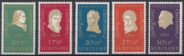 Suriname - Kinderzegels, Ludwig Von Beethoven - Postfris/MNH - NVPH 547 - 551 - Suriname ... - 1975