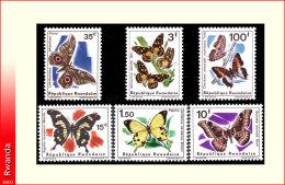 Rwanda 0138/43** Papillons II  MNH