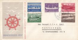 E29 - Zomerzegels, Schepen (1957) - NVPH 688 - 692 - FDC