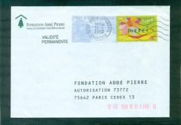 PAP Réponse Abbé Pierre Voyagée De Charente - Enteros Postales