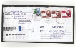 TAJIKISTAN Postal History Bedarfsbrief TJ 009 Handcrafts Electricity Energy - Tadschikistan