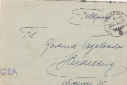 Feldpost WW2: From Bordeaux, France: Infanterie-Regiment 483 (1. Kompagnie/I) FP 25717B P/m 7.1.1941 - Letter Inside Sig - Militaria