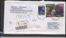 TURKMENISTAN Postal History Bedarfsbrief TM 001 Butterflies Insects Air Mail - Turkmenistán
