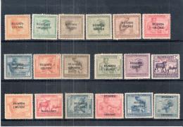 Ruanda-Urundi - 18 timbres diff�rents entre 50 et 74 - X/MH