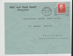 W084/ Hindenburg, Geburtstag, 15 Pfg. Ex Elberfeld 1927 - Briefe U. Dokumente