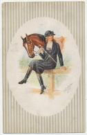 KASKELINE Lady With Horse C. 1910 - Kaskeline