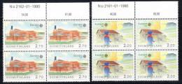 FINLANDIA  1990. EUROPA-CEPT. BLOQUE DE 4  NUEVOS SIN CHARNELA .SES GRANDE Nº 16 - Europa-CEPT