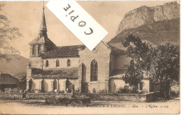 RARE !  THONES : ALEX - Route D'Annecy à Thônes - L'Eglise  1910-1915 - Thônes