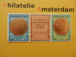 Tchad 1971, CHARLES DE GAULLE / FELIX EBOUÉ: Mi 424-25, ** - De Gaulle (General)