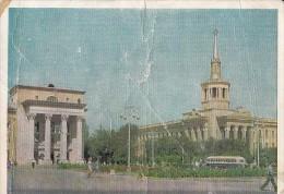 5357- BISHKEK- INDUSTRIAL SCHOOL, BUSS, POSTCARD - Kirghizistan