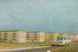 5376- ALMATY- MICROREGION, APARTMENT BUILDINGS, BUSS, POSTCARD - Kazakhstan
