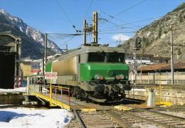 RU 0823 - Loco CC 6554 Au Dépôt - MODANE - Savoie 73 - SNCF - Modane
