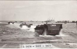 """PHOTO13.9./8.8.CM : BARGES L.C.M. . """" L 9424-9426-9423 """" DEBARQUEMENT A ARZEUX ( ALGERIE) EN 1956 . B.ETAT."""