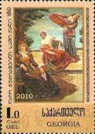 Georgia 2010 Painting Surcharge On # 68 1v MNH - Georgia