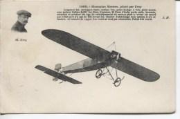 CPA - MONOPLAN MORANE PILOTE PAR FREY - ....-1914: Précurseurs