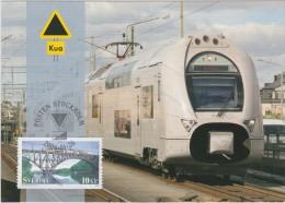 TRAIN TRAINS ZUG ZÜGE LOCOMOTIVE X40 - SWEDEN SUEDE SCHWEDEN  2006 STAMP ON MAXIMUM MAXI CARD CARTE Bridge Transport - Treinen