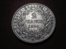 2 Francs Cérès 1894 A Paris 5684 - I. 2 Francs