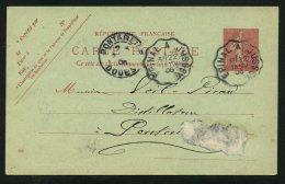 : Carte Entier 10c Type Semeuse Oblt CONVOYEUR Ligne EPINAL A JUSSEY P ARVILLARD - Marcophilie (Lettres)