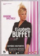 Carte Publicitaire - Elisabeth Buffet Nouveau Spectacle - CartCom - Artistes