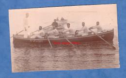 Photo ancienne - SAINT JEAN de LUZ - Marins de la Marine Nationale sur un canot - voir immatriculation