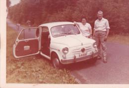 PHOTO-ORIGINAL-D´EPOQUE-C OULEURS-AUTO-FIAT-BELGIQU E-DIM : 9 A 12,50 CM - Automobile