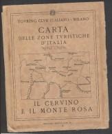 7920-T.C.I-IL CERVINO E IL MONTE ROSA-SCALA 1:50.000 - Carte Geographique