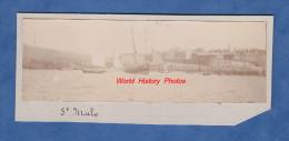 Photo ancienne - SAINT MALO - Bateau de P�che au Port - d�but 1900