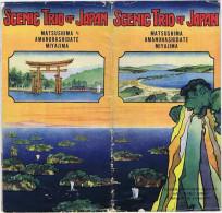 JAPON Scenic Trio Of Japan Matsushima Amanohashidate Miyajima 1927 Japanese Government Railways Hiraizumi. - Exploration/Voyages